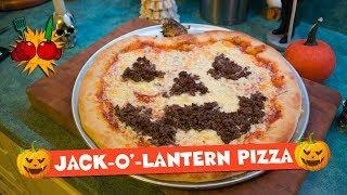 PUMPKIN-SHAPED PIZZA RECIPE | Jack-O-Lantern Pizza Recipe | Happy Halloween!! 🎃