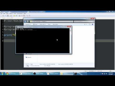 Perl Programming Tutorial : part 1