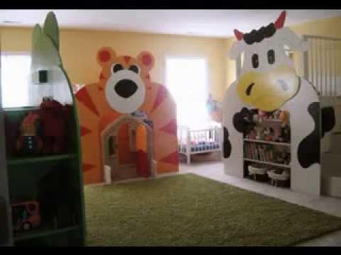 Игровая детская комната, идеи и мебель