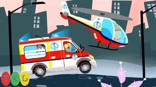 Xe Cứu Thương, Máy Bay Cứu Hộ | Ambulance, Helicopter | TopKidsGames (TKG)