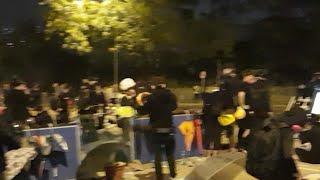 【直播】11.12深夜 香港城大學生準備抵抗警方第二次攻校園學生宿舍