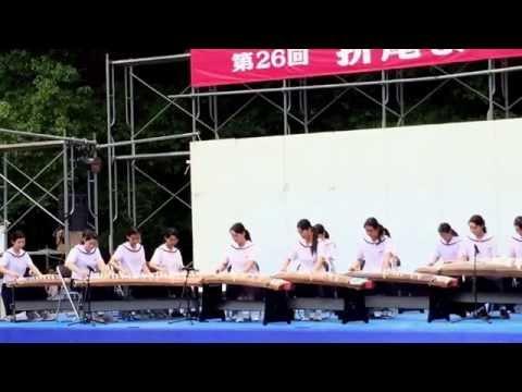 折尾祭り2015 則松中学校琴曲部