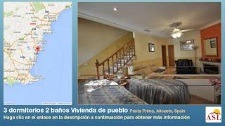 preview picture of video '3 dormitorios 2 baños Vivienda de pueblo se Vende en Punta Prima, Alicante, Spain'