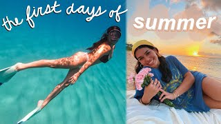 first days of summer in hawaii vlog! *diving, sunsets, good vibes*