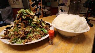 【大食い】特大回鍋肉定食【デカ盛り】