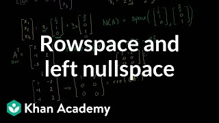 Linear Algebra: Rowspace and Left Nullspace