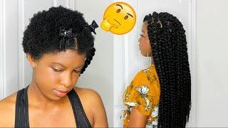 INDIVIDUAL CROCHET TWIST ON SHORT 4C NATURAL HAIR  BeautyWithPrincess
