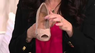 Clarks Artisan Leather Peep-toe Pumps - Jenness Cloud on QVC