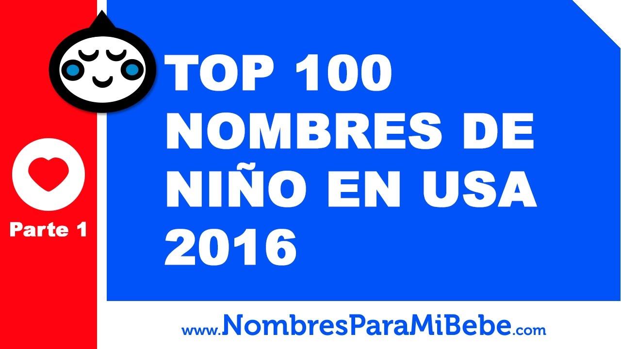 TOP 100 nombres para niños EE.UU. 2016 - PARTE 1 - www.nombresparamibebe.com