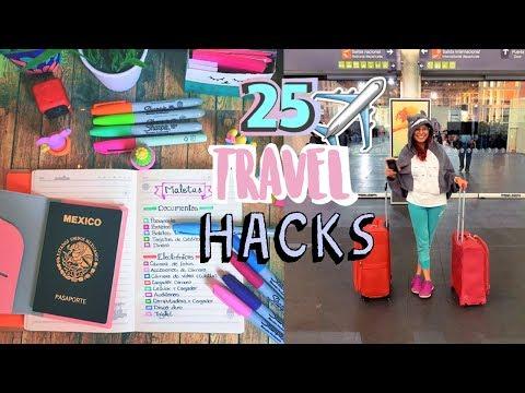 ¿CÓMO HACER LA MALETA DE VIAJE ? ♥ | 25 TRAVEL HACKS + TIPS MALETAS PARA VIAJAR EN AVIÓN