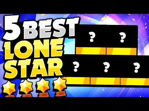 Pro's TOP 5 BEST Lone Star Brawlers! - New Game Mode Brawler Rankings In Brawl Stars