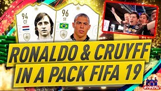 FIFA 19 BEST PACK OPENING EVER FIFA 19 CRUYFF & RONALDO ICON IN A PACK