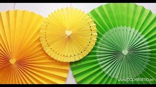 Decoración para cumpleaños: Cómo hacer rosetones de papel para decorar fiestas