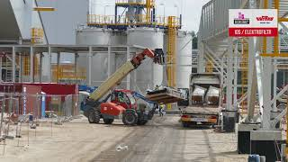 Lipcowy dzień na budowie bloku Elektrowni Jaworzno