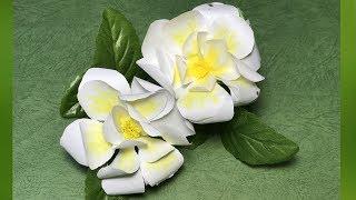 折り紙の花フラワーアート・クチナシ~折り方解説付き~Howtofoldagardeniaflower