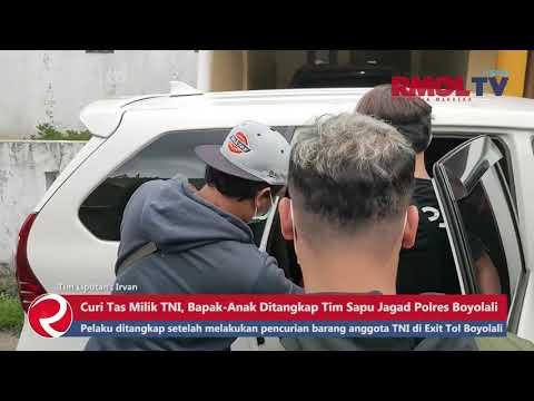 Curi Tas Milik TNI, Bapak Anak Ditangkap Tim Sapu Jagad Polres Boyolali