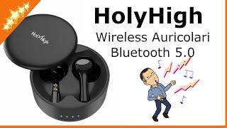 Cuffie Bluetooth HolyHigh Wireless Auricolari Bluetooth 5.0