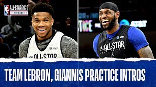 Team Giannis and Team LeBron All-Star Practice Introductions | 2020 NBA All-Star