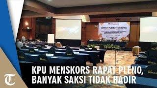 19 Saksi Partai Belum Hadir, KPU DKI Jakarta Menskors Rapat Pleno Terbuka