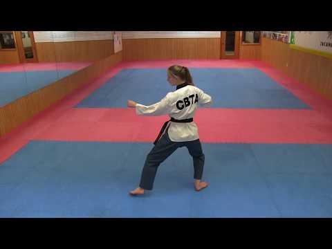Taekwondo Poomsae Taeguk 8 TKD Form Taegeuk 8