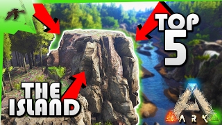 Top 5 Best PVP Base Locations  The Island Map  Ark Survival Evolved Xbox One