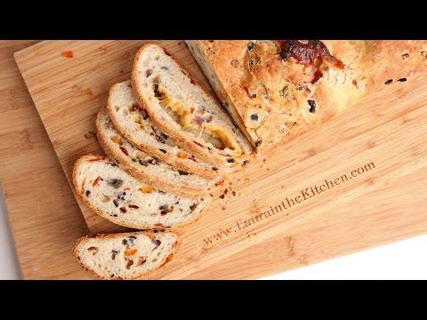 Supreme Pizza Bread Recipe NO MIXER! – Laura Vitale – Laura in the Kitchen Episode 923