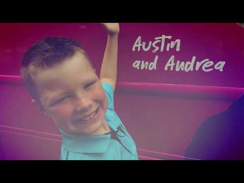 Superhero Austin, his mom Andrea, and one of his blood donors, Carroll, share their story of how blood helped save Austin's life.