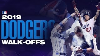 All The Los Angeles Dodgers Walk-offs From 2019!