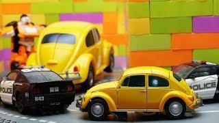 Transformers Bumblebee Movie Animation Autobots Robot Truck Lego Prison Break & Police Car