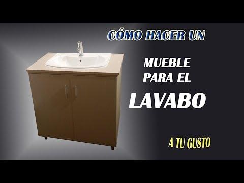 DIY ¿CÓMO  HACER UN MUEBLE PARA EL LAVABO?