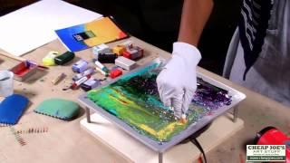 Andy Braitman Encaustics - The Monoprint Process With Jessica Moss