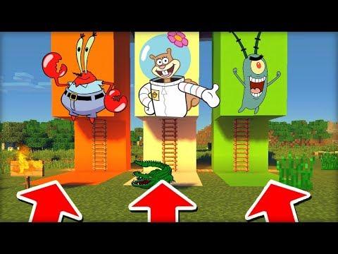 NEVYBER SI ŠPATNÝ ŽEBŘÍK V MINECRAFTU! (Krabs, Sandy, Plankton)