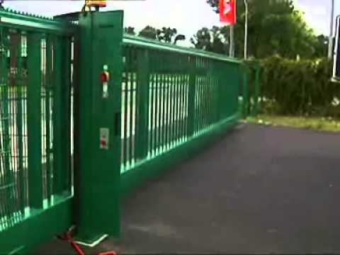 Inova cantilevered sliding gates example