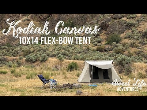 Kodiak Canvas Flex-Bow 10X14 Tent | Tutorial/Review