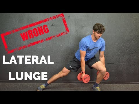 Lateral Lunges...You're Doing It WRONG
