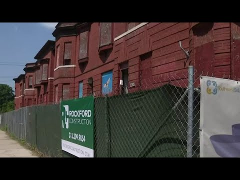 Detroit mayor unveils plans to revitalize abandoned rowhomes