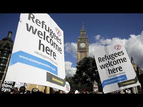 Διαδηλώσεις υπέρ των προσφύγων στο Λονδίνο
