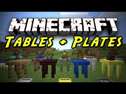 Minecraft Mod Showcase: Tables and Plates Mod! [1.2.5] (Birthday Special of Disappointment)