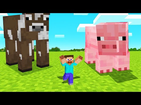 MINECRAFT But EACH STEP Makes You SMALLER! видео