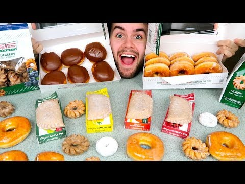 TRYING KRISPY KREME DONUTS! – Eating Doughnuts, Pumpkin Pie, & MORE Dessert Taste Test Review!