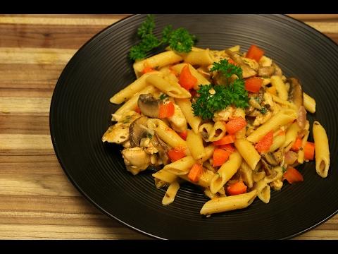 Video Chicken Pasta Primavera - easy pasta recipes - chicken recipes - healthy - chicken breast