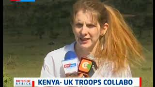Kenyan troops train together with UK soldiers