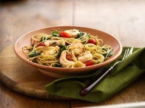 Pasta Arrabiata con Camarones / receta de pasta con camarones / comida italiana