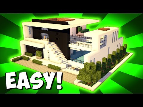. Minecraft  How To Build A Large Modern House Tutorial   2017