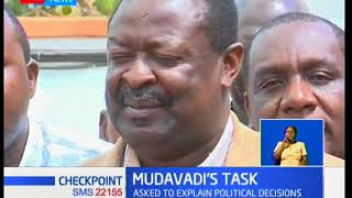 Luhya Elders put  Mudavadi on spot in a closed door meeting,asked to explain political decision