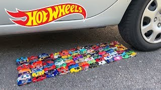 Crushing Crunchy & Soft Things by Car! - EXPERIMENT: CAR VS HOT WHEELS