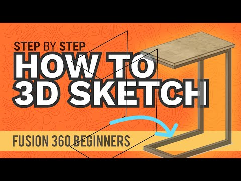How to Create a 3D Sketch in Fusion 360 | 3D Sketching 101