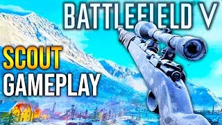 BATTLEFIELD 5 Scout Gameplay + Guide (Everything you need to know) BFV Sniping Gameplay