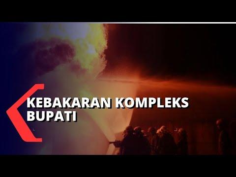 kebakaran di kompleks perkantoran bupati jayapura