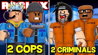 2 COPS VS 2 CRIMINALS CHALLENGE IN ROBLOX JAILBREAK! (Roblox Livestream)